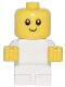 Minifig No: cty0668  Name: Baby - White Body with Yellow Hands