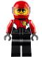 Minifig No: cty0738  Name: Pilot - Race Plane