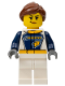 Minifig No: cty0750  Name: Dragster Transport Truck Driver, GEAR Logo
