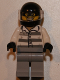 Minifig No: cty0751  Name: Police - Jail Prisoner 86753 Prison Stripes, Black Helmet with Visor