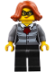 Minifig No: cty0753  Name: Police - City Bandit Female, Black Eye Mask