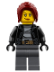 Minifig No: cty0781  Name: Police - City Bandit Crook Female, Dark Red Hair