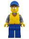 Minifig No: cty0824  Name: Coast Guard City - Rescue Boat Pilot