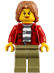Minifig No: cty0851  Name: Mountain Police - Crook Female Jacket over 87 Prison Stripes