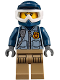 Minifig No: cty0854  Name: Mountain Police - Officer Female, Dirt Bike