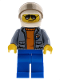 Minifig No: cty0865  Name: Coast Guard City - Helicopter Pilot with Sunglasses