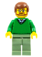 Minifig No: cty0893  Name: Green V-Neck Sweater, Sand Green Legs, Reddish Brown Hair, Beard