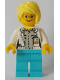 Minifig No: cty0901  Name: White Shirt over Light Bluish Gray Shirt, Name Tag, Medium Azure Legs, Bright Light Yellow Female Hair, Glasses