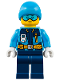 Minifig No: cty0903  Name: Arctic Explorer - Ski Beanie Hat, Light Blue Ski Goggles
