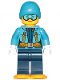 Minifig No: cty0906  Name: Arctic Explorer Female - Ski Beanie Hat, Light Blue Ski Goggles, Snowshoes