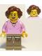 Minifig No: cty0910  Name: Hiker, Female Parent, Pink Shirt, Dark Tan Legs