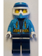 Minifig No: cty0927  Name: Arctic Explorer Female - Dirt Bike Helmet, Goggles