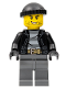 Minifig No: cty0930  Name: Police - City Bandit Crook, Black Knit Cap, Black Stubble