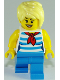 Minifig No: cty0938  Name: Ice Cream Vendor - Striped Shirt