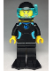 Minifig No: cty0959  Name: Diver, Female, Black Flippers and Wetsuit with Blue Logo, Yellow Scuba Tank