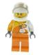 Minifig No: cty0983  Name: Desert Rally Racer Driver with Orange 'VITA RUSH' Logo