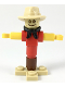 Minifig No: cty0986  Name: Scarecrow - Tan Hat, Black Bandana, Red Shirt