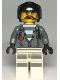 Minifig No: cty0994  Name: Sky Police - Jail Prisoner Jacket over Prison Stripes, Female, Black Helmet