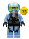 Minifig No: cty0997  Name: Sky Police - Jet Pilot with Oxygen Mask and Headset