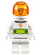 Minifig No: cty1009  Name: Astronaut - Male, White Spacesuit with Lime Belt, Trans Orange Large Visor, Stubble and Smirk
