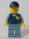 Minifig No: cty1044  Name: Cameraman - Dark Blue Jacket, Sand Blue Legs