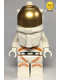 Minifig No: cty1064  Name: Astronaut - Female, White Spacesuit with Orange Lines, Closed Mouth Smile
