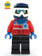 Minifig No: cty1078  Name: Ski Patrol Member - Male, Dark Blue Helmet