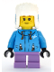 Minifig No: cty1080  Name: Girl - Dark Azure Jacket, Medium Lavender Short Legs, Ushanka Hat