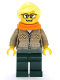Minifig No: cty1084  Name: Hot Drinks Stand Clerk - Female, Dark Tan Sweater, Scarf, Ponytail