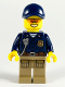 Minifig No: cty1091  Name: Mountain Police - Officer Male, Orange Sunglasses