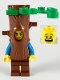 Minifig No: cty1098  Name: Nature Photographer, Tree Disguise