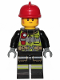 Minifig No: cty1105  Name: Fire Fighter - Clemmons