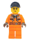 Minifig No: cty1140  Name: Street Sweeper Operator