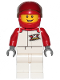 Minifig No: cty1160  Name: Race Car Driver - Male, White and Red Jumpsuit with 'XTREME' Logo, White Legs, Red Helmet