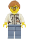 Minifig No: cty1167  Name: Ocean Researcher - Female, White Jacket, Sand Blue Legs, Glasses, Medium Nougat Hair