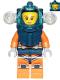 Minifig No: cty1169  Name: Deep Sea Diver - Female, Dark Blue Helmet, Side Lamps, Smirk / Left Eye Squinted