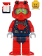 Minifig No: cty1180  Name: Scuba Diver - Male, Open Mouth, Dark Tan Beard, Red Helmet, White Airtanks, Red Flippers