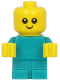 Minifig No: cty1186  Name: Baby - Dark Turquoise Body with Yellow Hands