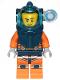 Minifig No: cty1224  Name: Deep Sea Diver - Male, Dark Blue Helmet, Side Lamp, Stubble