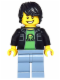 "Minifig No: dim020  Name: Gamer Kid Gamin ""gamer"" - Dimensions Level Pack"