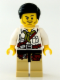 Minifig No: dino006  Name: Hero - White Shirt with Olive Green Bandana