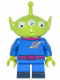 Minifig No: dis002  Name: Pizza Planet Alien - Minifigure only Entry
