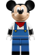 Minifig No: dis042  Name: Mickey Mouse - Blue Overalls, Red Bandana (71044)