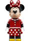 Minifig No: dis043  Name: Minnie Mouse - Red Polka Dot Skirt (71044)