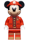 Minifig No: dis050  Name: Mickey Mouse - Fire Fighter