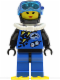 Minifig No: div002a  Name: Divers - Blue, Female, Yellow Flippers