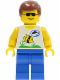 Minifig No: div004  Name: Divers - Boatie 1, Brown Male Hair