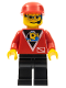 Minifig No: div010  Name: Divers - Control 2, Black Legs, Red Cap