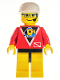 Minifig No: div012  Name: Divers - Control 2, Yellow Legs with Black Hips, White Cap