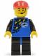 Minifig No: div013  Name: Divers - Blue, Red Cap